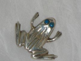 Silver Froggy Brooch (SOLD)